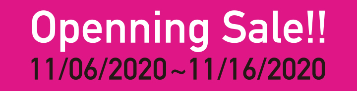 openning sale!! 10/19/2020~10/31/2020